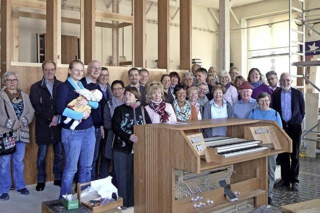 Die ersten Titiseer haben ihre neue Orgel schon gesehen