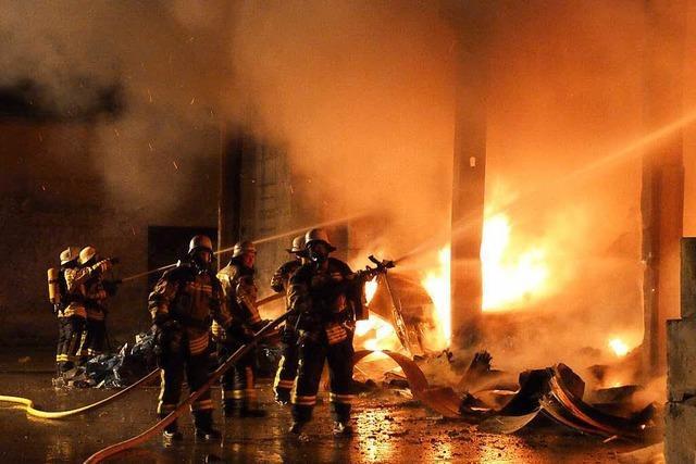 Chefin der Recyclingfirma befürchtet Brandstiftung