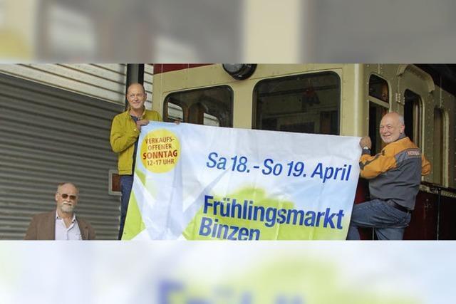 Frühlingsmarkt macht's möglich: eigener Bahnhof im Gewerbepark