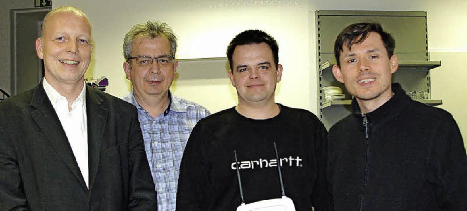 Der Vorstand des neugegründeten Verein... Siniawa und Bernd Kalbfuß-Zimmermann.  | Foto: Rolf Reißmann