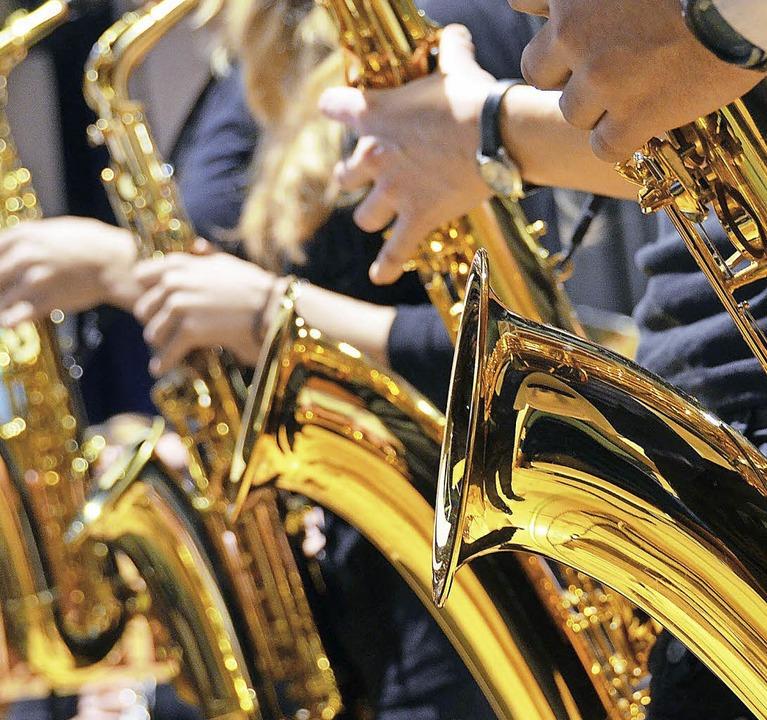 Saxophone sind beim MV Rickenbach auch zu hören.  | Foto: blum