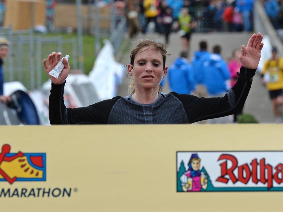 Ann-Katrin Hellstern siegte bei den Frauen.  | Foto: Patrick Seeger