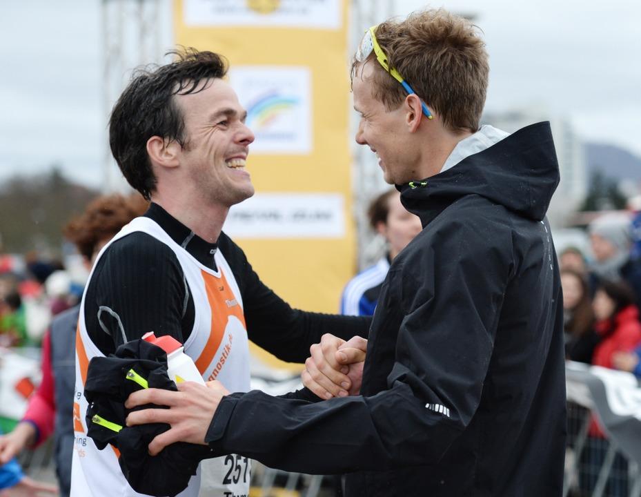 Der Zweitplatzierte, Thomas Klingenberger (l.) und Sieger Lukas Naegele (r.).  | Foto: Patrick Seeger