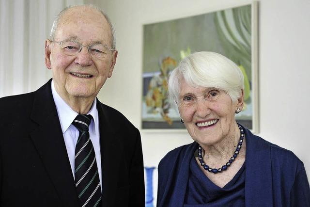 Ex-Bürgermeister Berthold Kiefer und seine Frau Mathilde feiern Eiserne Hochzeit