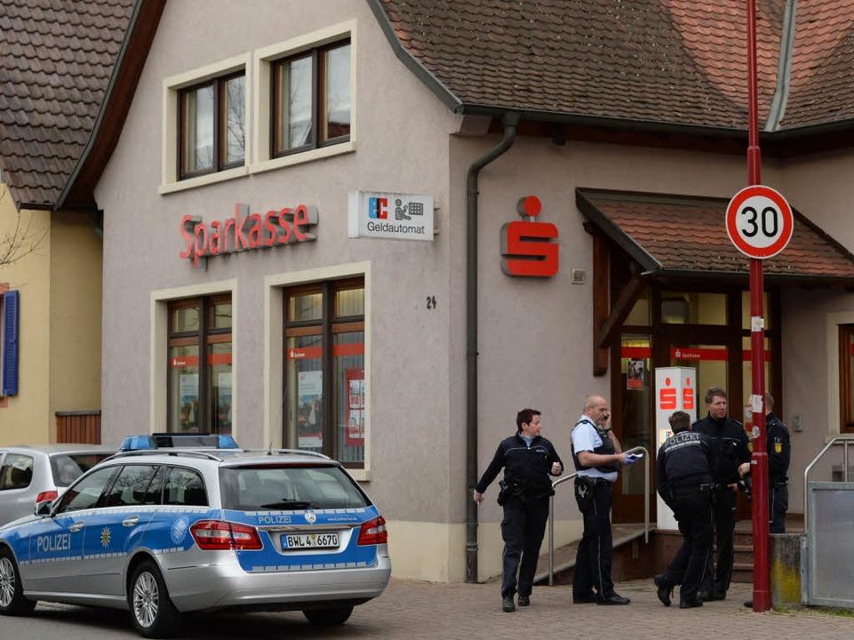Die Sparkasse in Gottenheim: Sie war s...nigen Wochen Ziel eines Banküberfalls.  | Foto: dpa