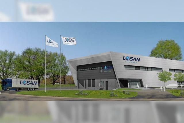Losan Pharma baut im Gewerbepark Breisgau