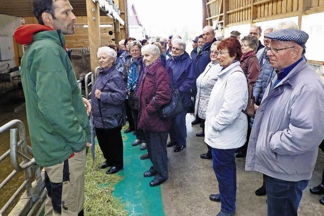 Höchenschwander Senioren bei Schweizer Biolandwirt