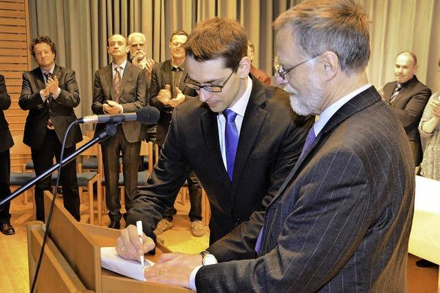 Helmut Mursa ist jetzt als Bürgermeister im Amt