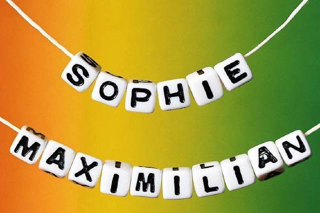 Sophie und Maximilian sind die beliebtesten Vornamen 2014