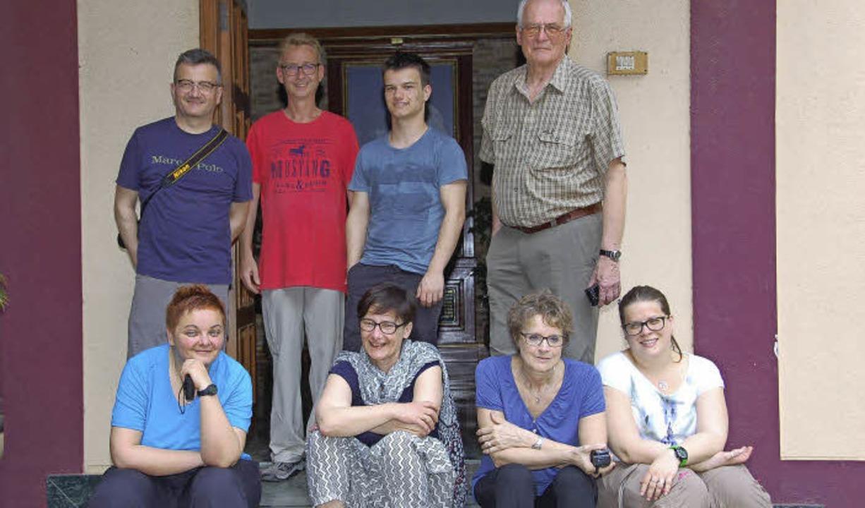 Die Gundelfinger Reisegruppe (von link...uch, Jakob Burger und Günther Dännart.  | Foto: Andrea Steinhart