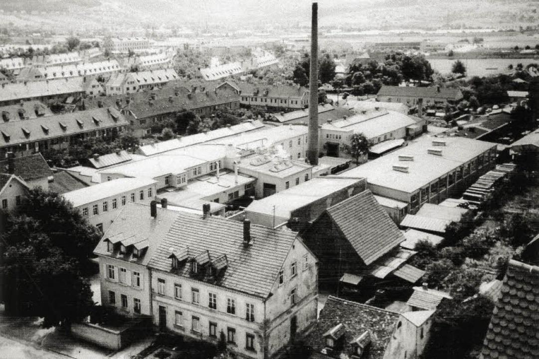 Die damalige Firma Fortschritt Mitte d...nn  vom Kirchturm der Michaelskirche.   | Foto: privat
