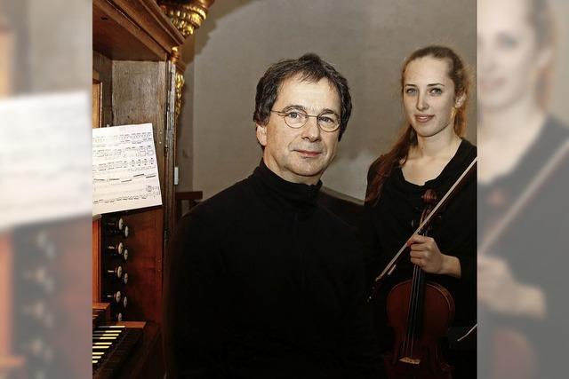 Zartes Violinespiel, kraftvolle Orgelklänge