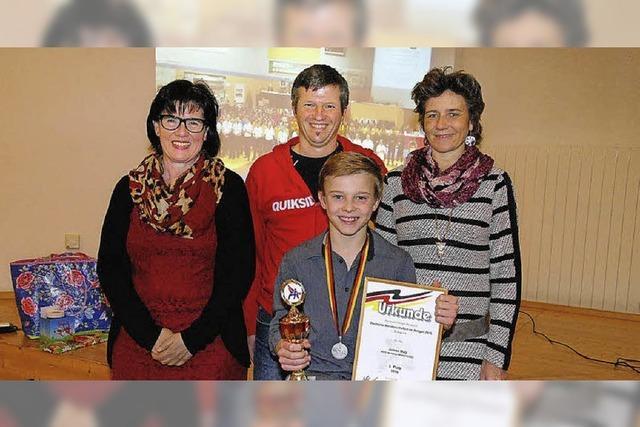 Empfang für Vizemeister Jannis Hug