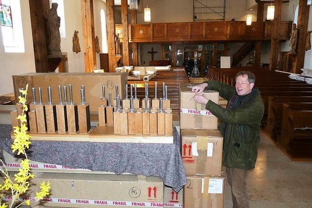 Die neue Orgel ist da – in Einzelteilen