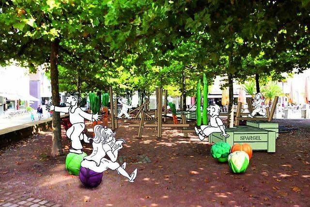 Spielplatz auf dem Lahrer Marktplatz wird neu gestaltet