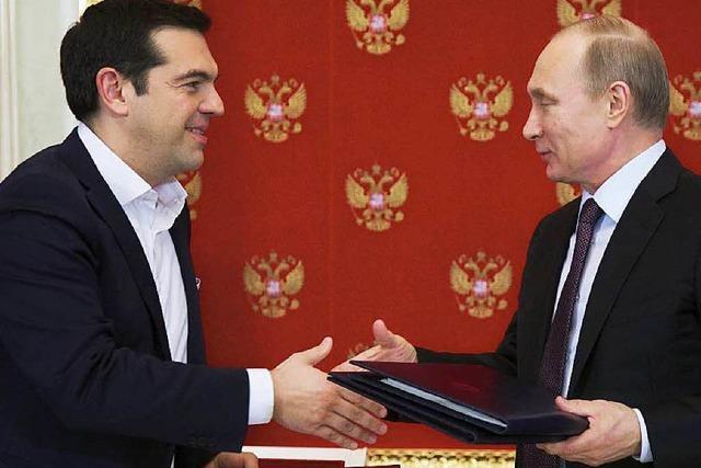 Putin und Tsipras kommen sich näher
