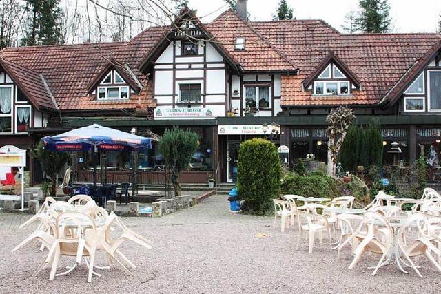 Café-Restaurant Bergsee mit Tretbootverleih ist startklar