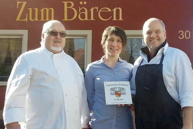 """Norsinger Restaurant Zum Bären gehört zu den """"Historischen Gasthäusern Badens"""""""