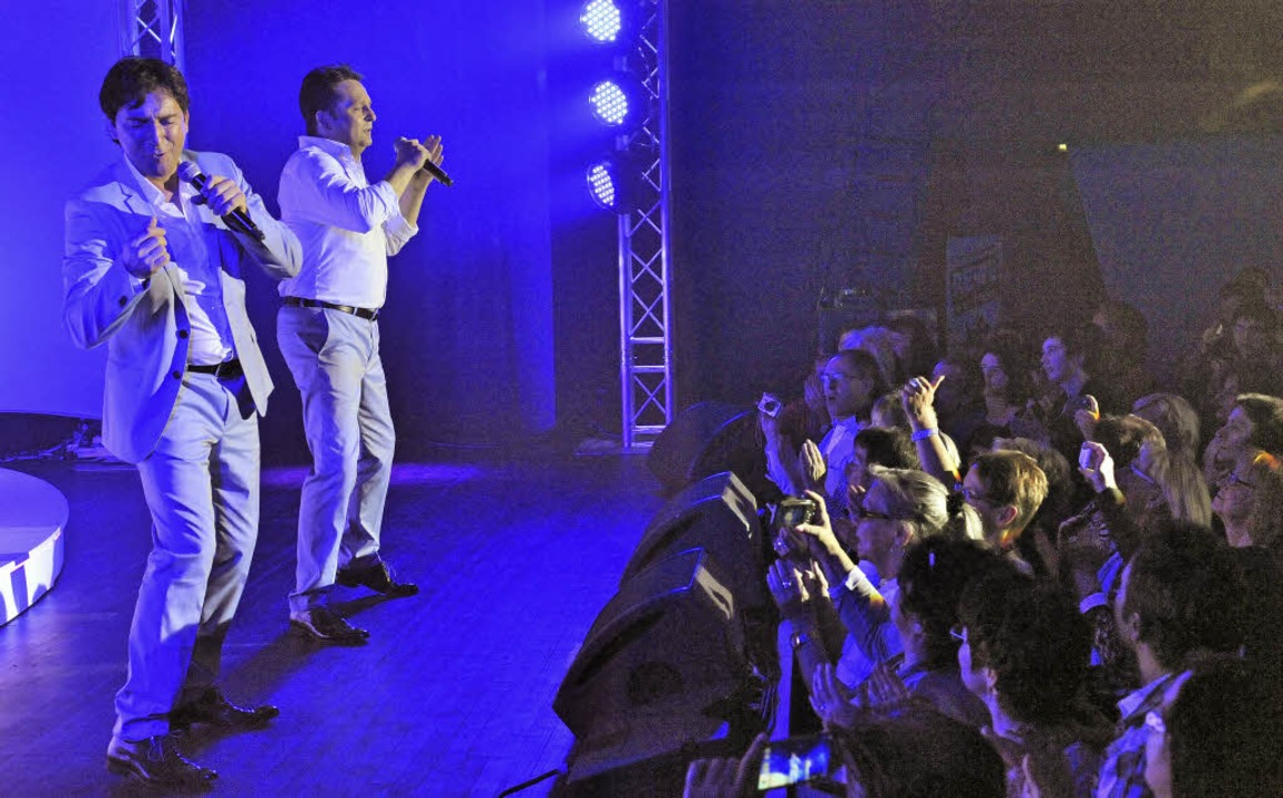 Freddy (links) und Martin begeisterten...ei durfte die Show-Treppe nicht fehlen  | Foto: Markus Zimmermann