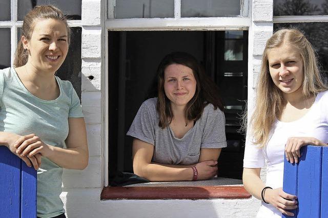 Drei Mädels für einen Kiosk