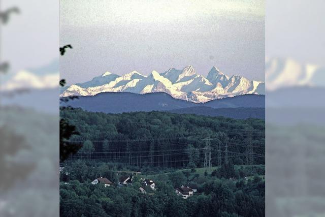 Alpenblick vom neuen Dorf-Treff