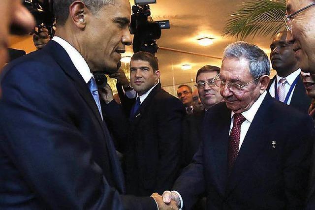 Barack Obama und Raúl Castro beenden die Eiszeit