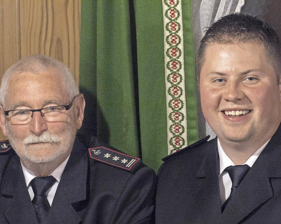 Jochen Borrmann und   sein Nachfolger Markus Löffler.     Foto: M. Hannig