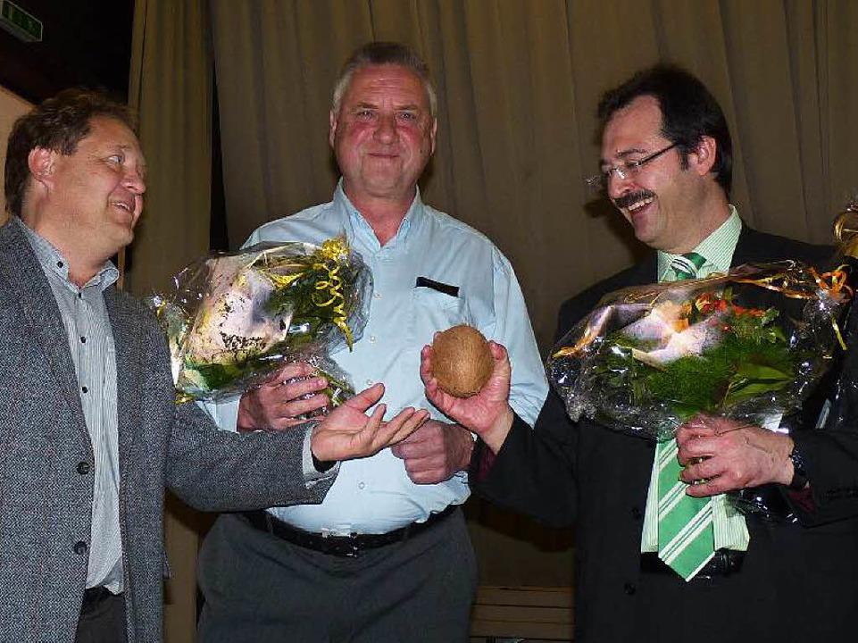 Martin Bühler (rechts) ist acht weiter...ies, der einen Achtungserfolg erzielte    Foto: Dirk Sattelberger