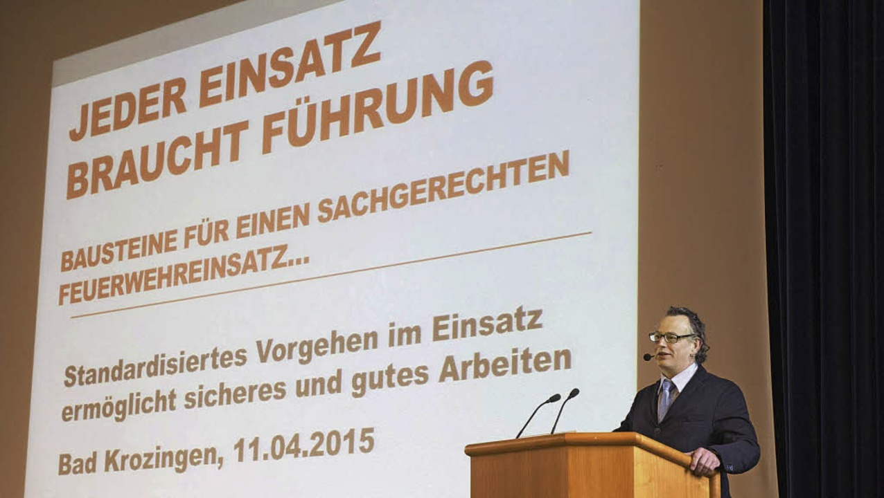 Er war der Star unter den Referenten: ...te Sicherheitsexperte Ulrich Cimolino.    Foto: Volker Münch