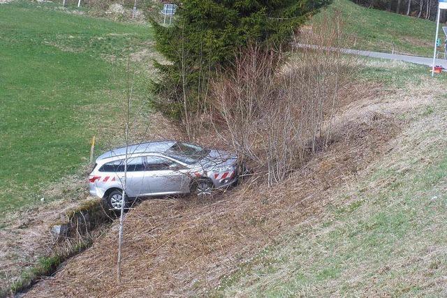Führerloses Auto stürzt ab