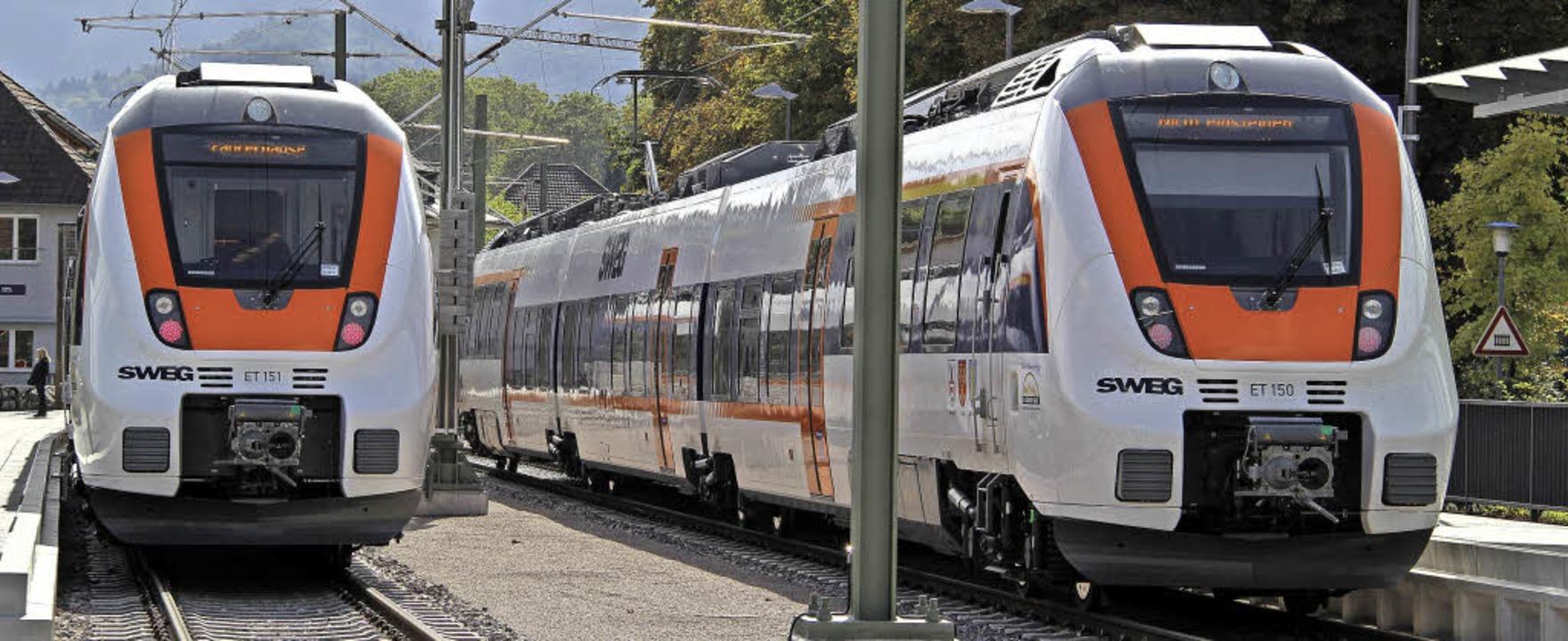 Wie sollen die Münstertalbahn abgestel...e Frage sorgt weiter für Diskussionen.  | Foto: A. Huber
