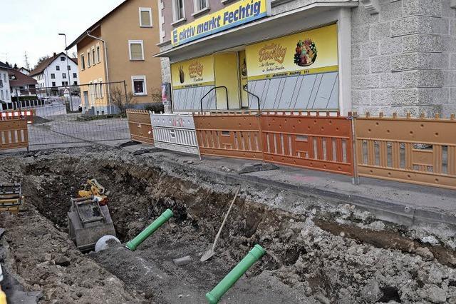 Bauarbeiten schreiten voran