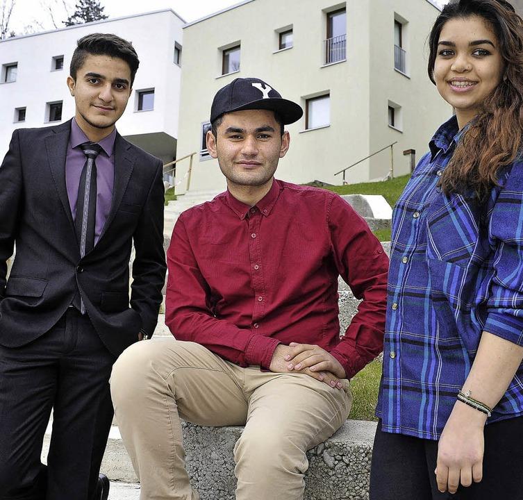 Drei mit Wir-Gefühl: Hasan Essam, Yassir Nazar und Jasmine Ali   | Foto: Kunz