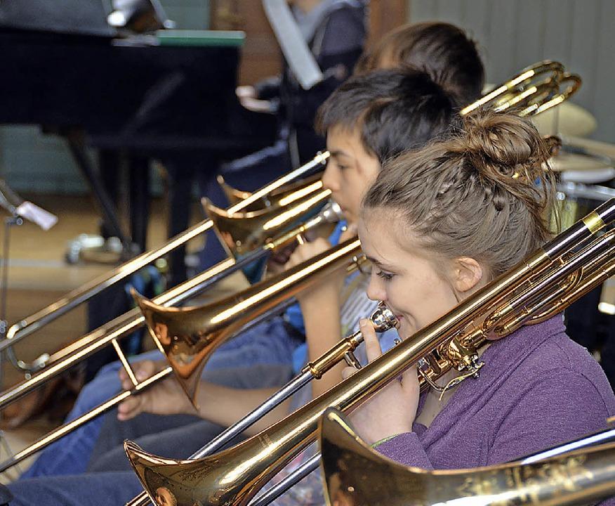 Bläser des Schüler Jazz Orchesters   | Foto: Tobias Simon