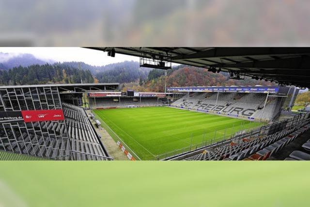 Beim SC Freiburg im Stadion