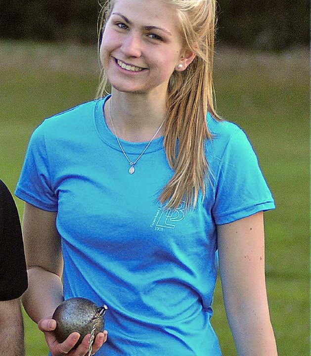 Kreisrekord: Jessica Plasch warf den Hammer in Oberbaldingen 47,38 Meter weit.      Foto: heiler