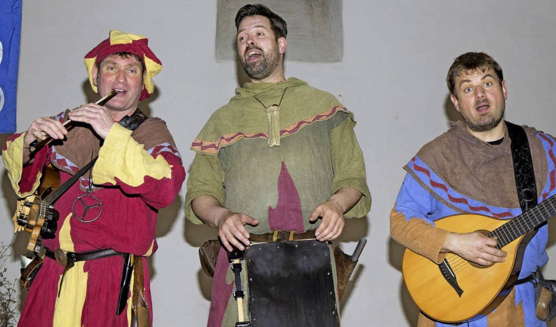 "Die Mittelalter-Musiker vom ""Duivelspack"" in ihrem Element.    Foto: Chris Seifried"