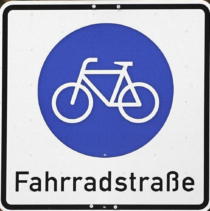 Fahrradstraßen soll es künftig auch in Weil  geben.     Foto: Ingo Schneider