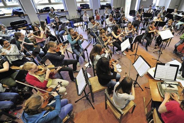 Die Ursula Symphonics spielen am Freitag vor der Jury des Deutschen Jugendorchesterpreises