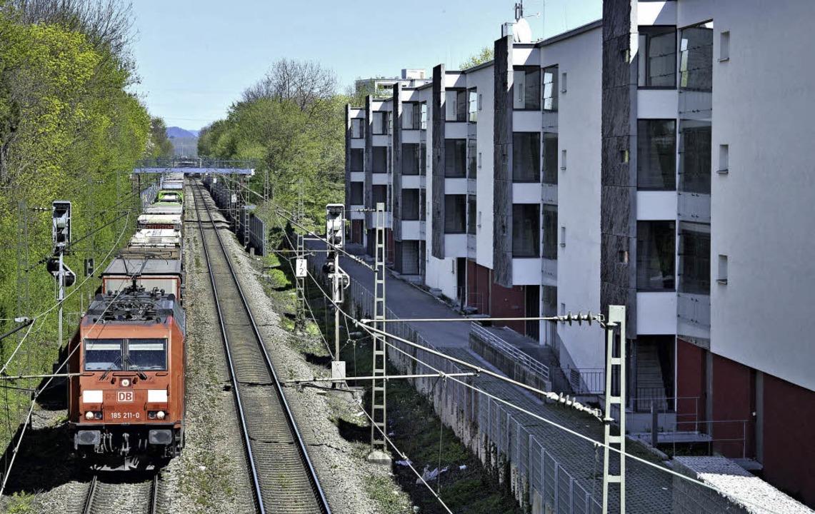 Beispiel Laubenweg: Neubauten an verlärmten Verkehrswegen   | Foto: Michael Bamberger