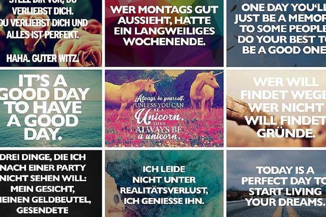 Visual-Statements – Ein Freiburger entwirft Bildbotschaften für Facebook