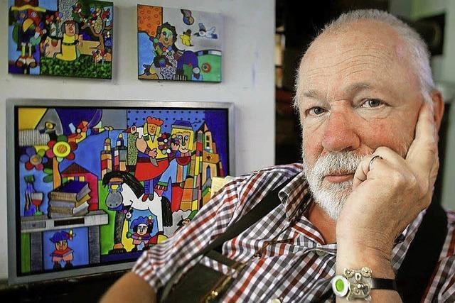 Der Maler Otmar Altt stellt in der Galerie Lebenskunst in Badenweiler aus
