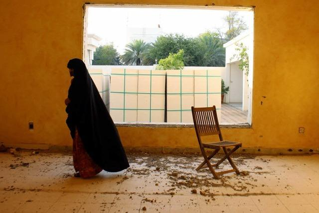 Fotografien junger Araber im Freiburger Goethe-Institut