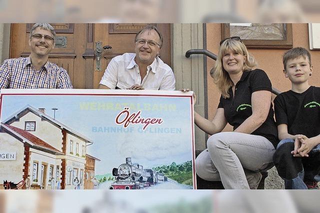 Markante Bauwerke werben für die 750-Jahr-Feier von Öflingen