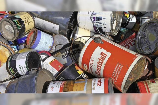 Schadstoffhaltigen Müll sicher entsorgen