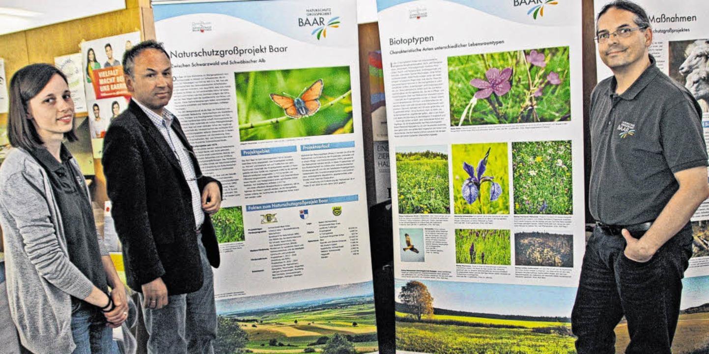 Das Naturschutzgroßprojekt Baar nimmt ...onner und Projektleiter Thomas Kring.     Foto: Günter Vollmer