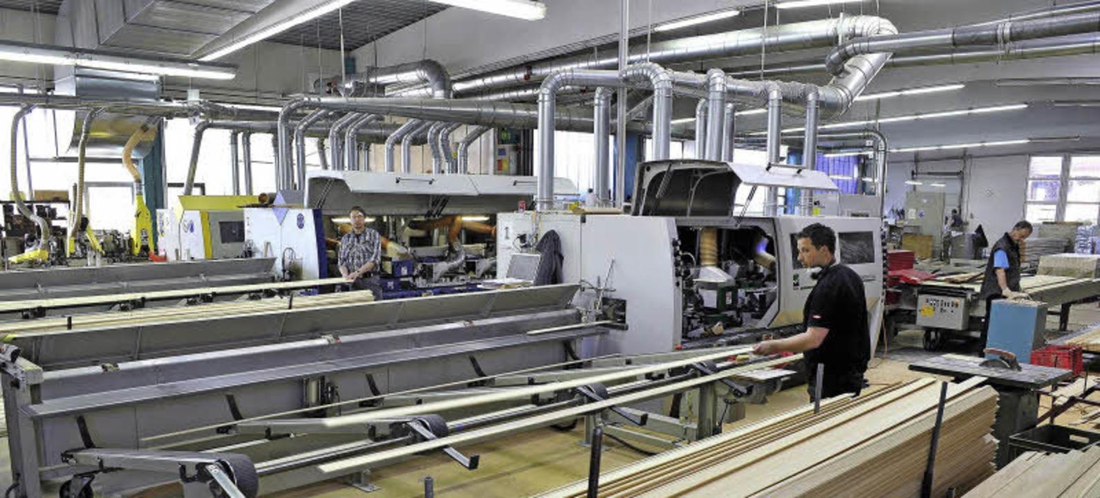Ein Blick in die Produktionshalle     Foto: Thomas Kunz