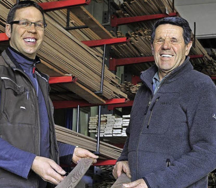 Pirmin Spiegelhalter (links) und Seniorchef Ernst Spiegelhalter    Foto: Thomas Kunz