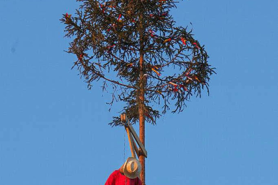 Narrenbaum in Machecoul (Foto: Wilfried Dieckmann)