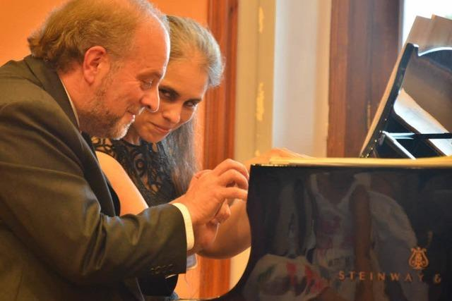 Das Klavierduo Lambert Bumiller & Patricia Germano spielt in St. Märgen